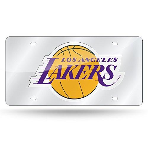 - Rico Industries NBA Los Angeles Lakers Laser Inlaid Metal License Plate Tag, Silver