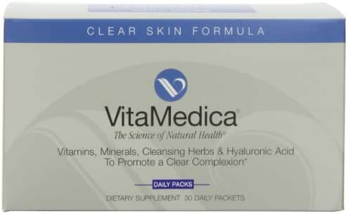 Vitamedica Clear Skin Formula Daily Supplements Packets, 30-Count