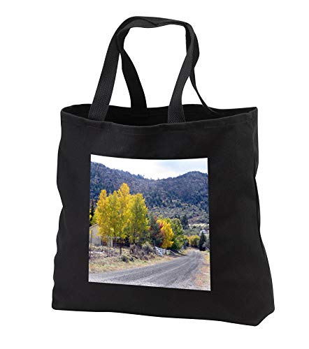 Jos Fauxtographee- Pine Valley Fall - A street in Pine Valley with beautiful fall foliage on the trees - Tote Bags - Black Tote Bag JUMBO 20w x 15h x 5d (tb_308215_3)