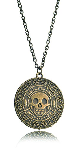 LOOMEN Pirates of Caribbean Treasure of Cortez Coin (Cortez Coin Necklace) - Elizabeth Swann At Worlds End