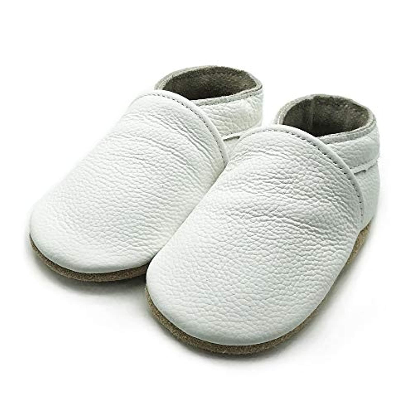 Owlowla Baby Moccasins Leather Soft Sole Newborn Crib Shoes for Boys and Girls