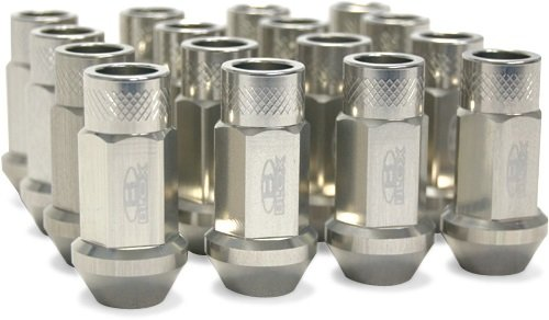 Blox Racing BXAC-00104-SSSI Street Series Silver 12x1.5mm Thread Size Forged Lug Nut, (Set of (Blox Lug Nuts)