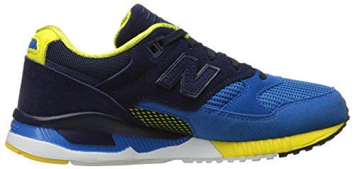 New Balance Men's M530Classic Run Bionic Boom Fashion Sneaker, Sonar Blue/Abyss/Viper Yellow, 9 D US