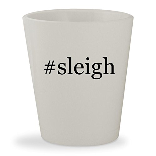 #sleigh - White Hashtag Ceramic 1.5oz Shot Glass - Da Vinci Sleigh Toddler Bed