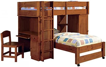 HOMES Inside Out Williams Home Furnishing CM-BK529-OAK-SET Harford II Twin