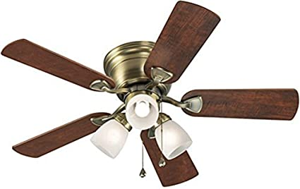 42 ceiling fan with light vintage look harbor breeze ceiling fan centreville 42in antique brass flush mount with light kit
