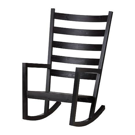 IKEA värmdö mecedora para interior y exterior; En negro y ...