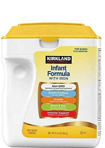 Price comparison product image Kirkland Signature Non-GMO, Gentle Infant Formula With Iron 34oz. (2 Pack)