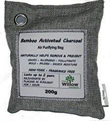Willow Source Natural Air Purifying Bags -Moso Bamboo Activated Charcoal Deodorizer – Unscented Air Freshener, Odor Eliminator, Car Air Freshener, Moisture Absorber (1)