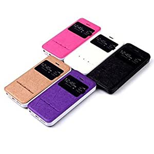 SOL S View Window with Smart Sliding Function Flip TPU+PU Leather Case for iPhone 5/5S((Assorted Colors) , Beige