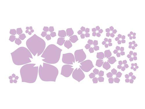 Homemates Home Decor Vinyl Wall Sticker Light Purple Flower Kids Room Decal Art Mural Wallpaper