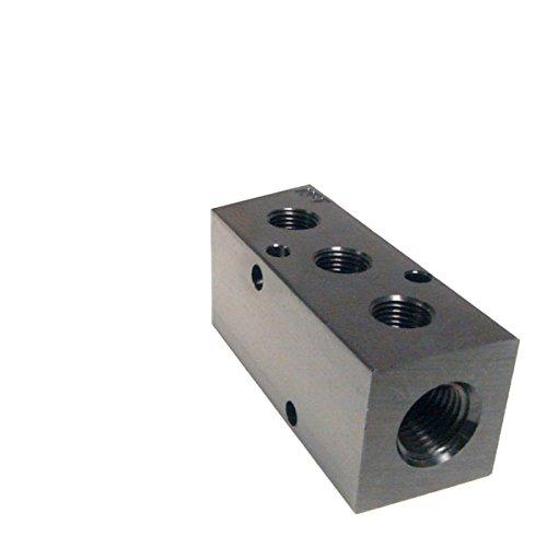 Hydraulic Manifold (Pneumadyne M20-375-3, Inline Manifold, 3-Station, 3/8 NPT Input, 3/8 NPT Output)