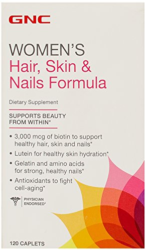 GNC-Womens-Hair-Skin-Nails-Formula-120-Tablets-Singles-or-Double-Packs