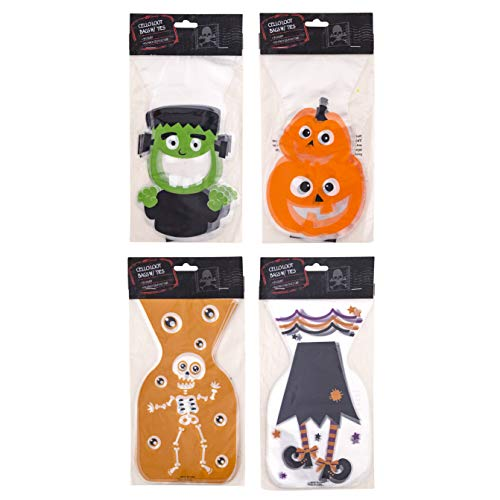 Skeleton Cello Treat Bags - Clever Home Halloween Goodie Treat Bags
