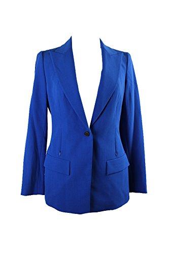 Anne Klein Womens Blazer Jacket (Anne Klein Women's 1 Button Long Boyfriend Jacket, Bizet Blue, 10)