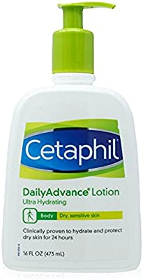Cetaphil Daily Advance Lotion, Ultra Hydrating, 16 Ounce (Pack of 3)