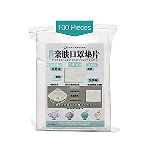 Disposable Filter Pad, 100pcs Anti-Dust Replacement Mask Pad for Cycling Camping Travel