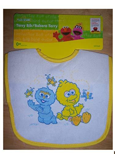 Sesame Street Terry Cloth Bib. Baby Big Birg & Cookie Monster