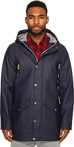 - Levi's Men's Rubberized Rain Parka Jacket, Navy, XX-Large