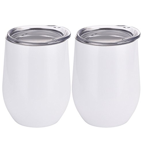 insulated wine glass with lid - 5