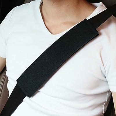 Beige para cintur/ón de seguridad,mochila 1 par Coj/ín para cintur/ón de seguridad,Protector Cinturon Coche,extra/íble y lavable Material de Gamuza Suave Y C/ómoda,Correa para el Hombro ni/ños y Adultos