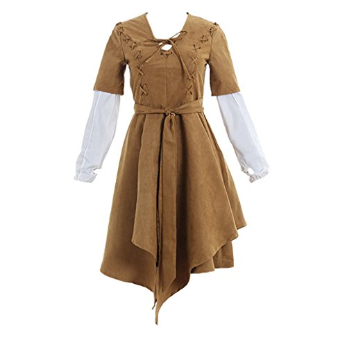 CosplayDiy Women's Dress for Star Wars Princess Leia Cosplay L -