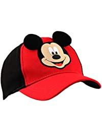 Boys' Mickey Mouse Character Baseball Cap, Red/Blue, Age 2-4