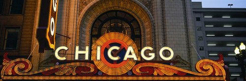 Walls 360 Peel & Stick Wall Mural: Chicago Theatre Marquee (60 in x 20 in)