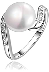 Retro Ring Party Anillos Bijoux Silver Size 7,8 by Focus Jewel