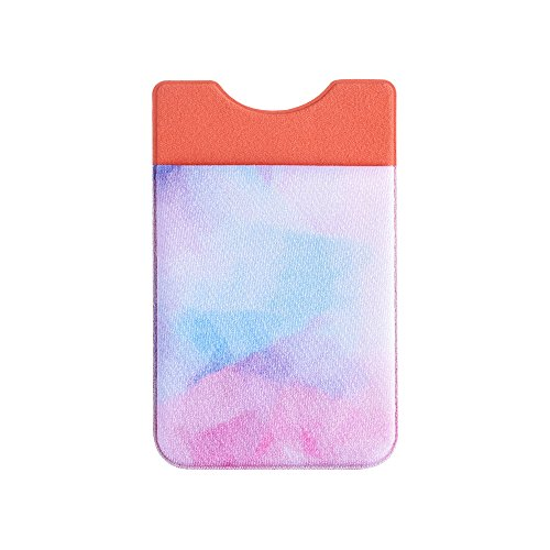 Lycra Stars - Case Star Adhesive Phone Wallet Card Sleeve Stick On Stretchy Lycra Essential Daily Pouch Holder For Backing of Smartphone (Soft Rainbow)