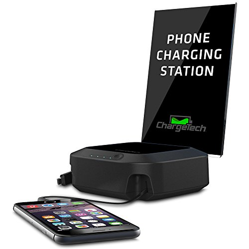 ChargeTech - 10,000mAh Portable Cell Phone Charging Hub w/ 2 Charging Tips Included for Multiple Devices: iPhone, iPad, Samsung Galaxy, Tab - Fast Charge Rapid Charging (Model: BPCH2) [Black] by ChargeTech