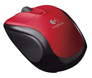 Logitech V220 Cordless Optical Mouse for Notebooks (Scarlet Red)