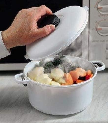 Microondas-olla a presión para microondas. Cacerola con tapa de ...
