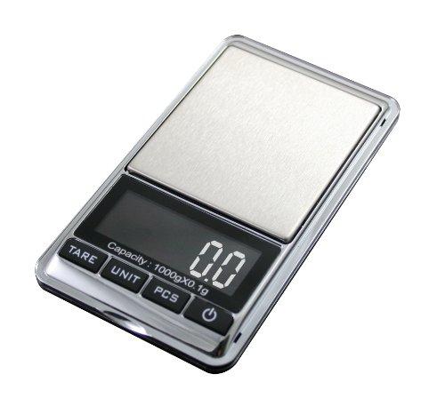 Scale Pocket Digital Gram - American Weigh Scale Chrome-1kg Digital Pocket Scale, Chrome, 1000 X 0.1 G