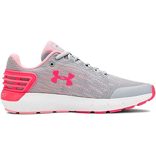Under Armour Girls' Grade School Charged Rogue Sneaker, Mod Gray (102)/White, 4