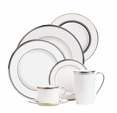 Lenox China Columbus Circle - Lenox Columbus Circle Platinum Banded Bone China Dinner Plate