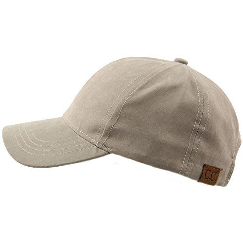 CC Everyday Unisex Light Plain Blank Baseball Sun Visor Solid Cap Dad Hat Lt. Gray