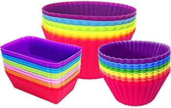 30-Pack Ielek Non-Stick Silicone Baking Cups