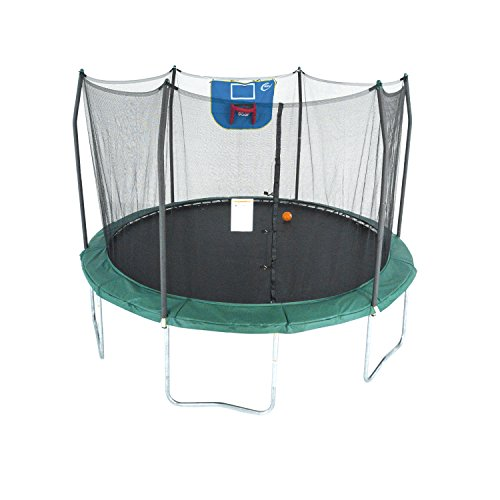 Skywalker Trampolines 12-Foot Jump N' Dunk Trampoline with Enclosure Net - Basketball...