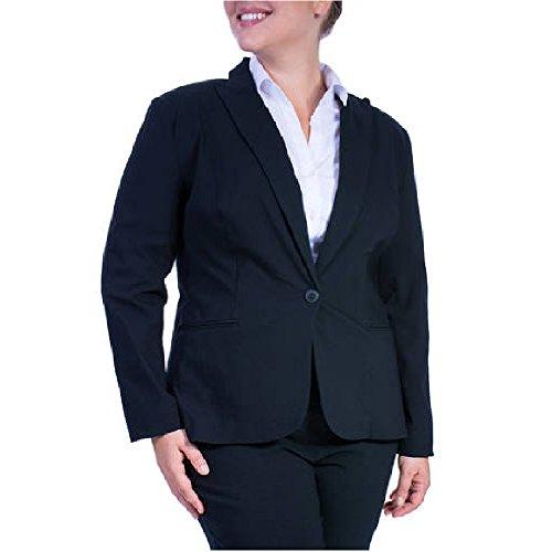 George+Women%27s+Plus-Size+Millennium+Suiting+Blazer+Jacket+%2824W%2C+Black%29