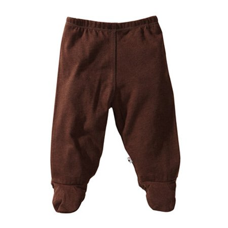 Babysoy Baby Boys' Footie Pants -Chocolate - 3-6 Months