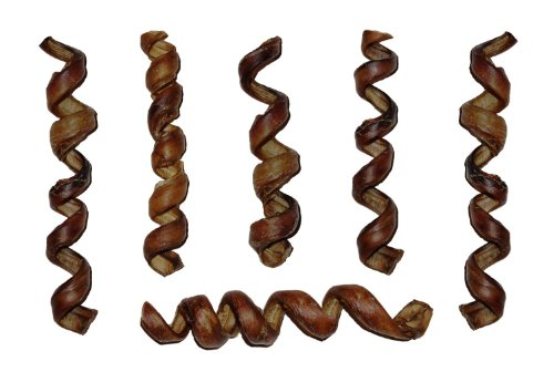 7″ – 9″ CURLY BULLY STICKS, bull bully springs – Regular Select Thick – Dog Chew Treats, (20 Pack) by Downtown Pet Supply, My Pet Supplies