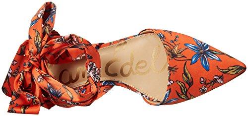 Sam Edelman Women's Brandie Orange/Humingbrd Twill M