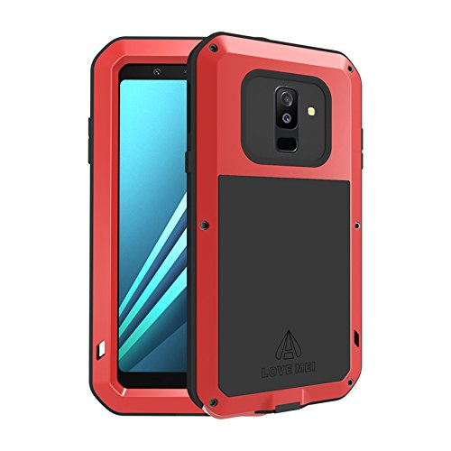 the best attitude 152dc 1711e Galaxy A6 Case,HuiFlying Waterproof Shockproof Dust Heavy Duty Aluminum  Alloy Metal Bumper Silicone Fully-Body Hybrid Military Case for Samsung  Galaxy ...
