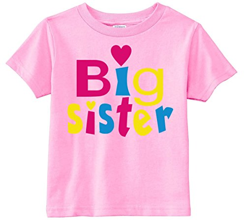Lil Shirts Little Girls Big Sister Heart Toddler Graphic Tee Big Sister Youth T-shirt