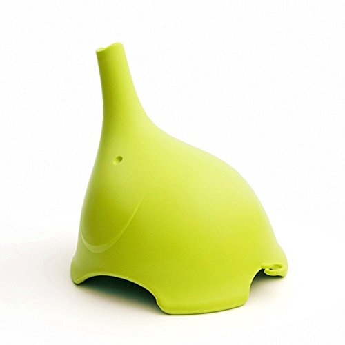 Polyethylene Funnel for Liquid Transfer or Powder Transfer, Food Grade Safety, Cute Elephant Shape, Green