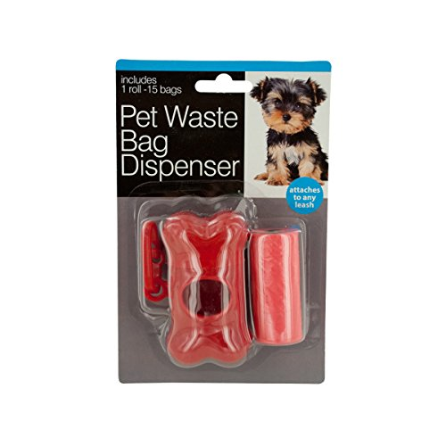 Bulk Buys Pet Waste Bag Dispenser with Bags-48-Pack