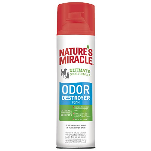 Nature's Miracle Nm Odor Destroyer Foam, 6/17.5 oz for tough odors