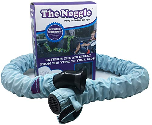 Noggle - Extend Hot and Cold Air from Your Dash AC Vent to Kids in The Back Seat - Summer and Winter Vehicle Baby Traveling System to Keep Children Comfortable in The Car - 8ft, Blue Freeze