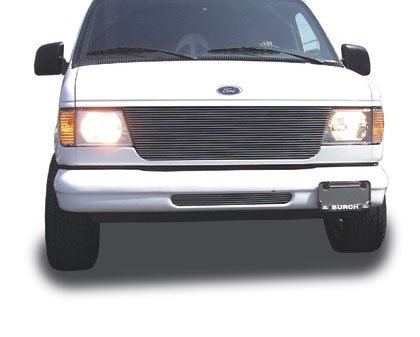 orizontal Aluminum Polished Finish Billet Grille Bolt-on for Ford Econoline Van (Horizontal Billet Grille)